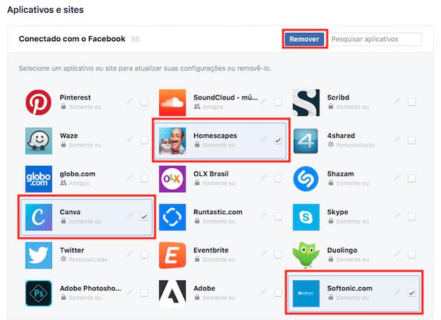 Facebook lança ferramenta de remoção de aplicativos em massa; veja