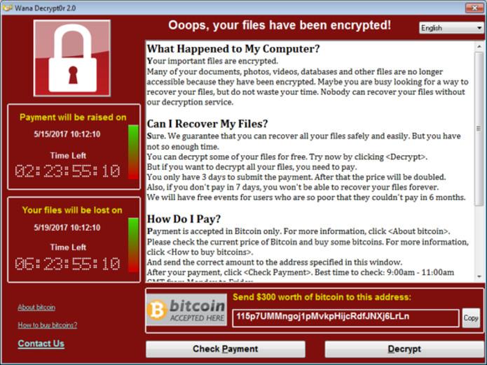 Grande ameaça hacker de 2017, vírus de resgate estão em declínio