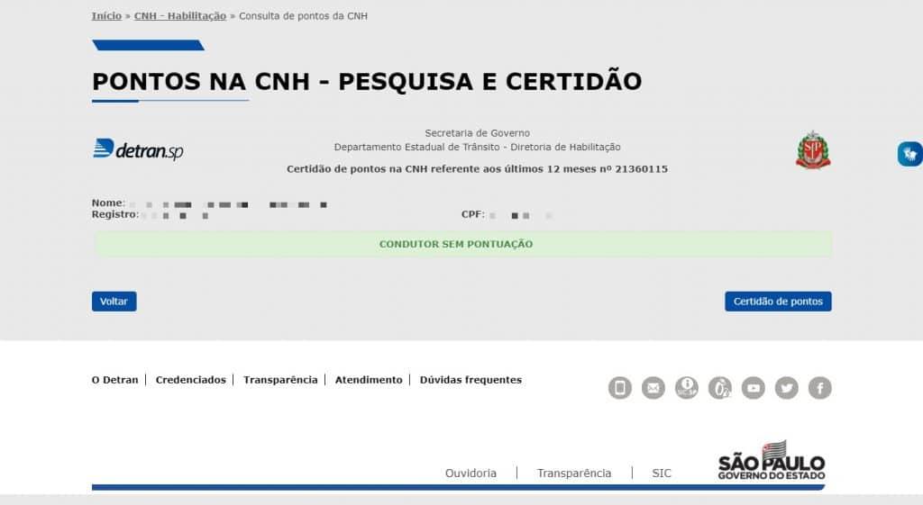 Saiba porquê consultar a pontuação da CNH pelo portal do Detran-SP